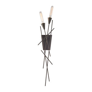 Sticks Oil Rubbed Bronze Two-Light Wall Sconce