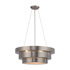 Layers Brushed Stainless 22-Inch Three-Light Pendant
