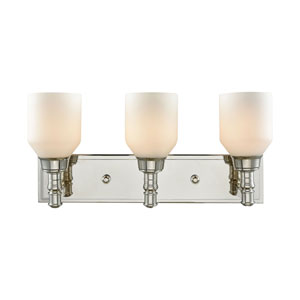 Baxter Polished Nickel Three-Light Vanity