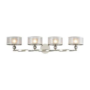 Corisande Polished Nickel Four-Light Vanity