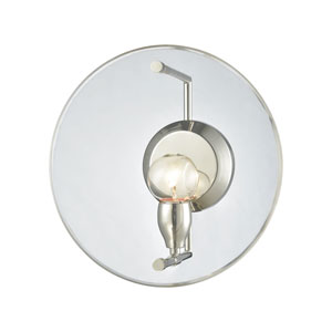 Disco Polished Nickel One-Light Wall Sconce