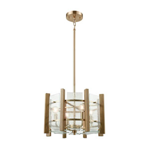 Vindalia Satin Brass Four-Light Pendant