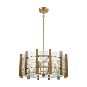 Vindalia Satin Brass Six-Light Pendant