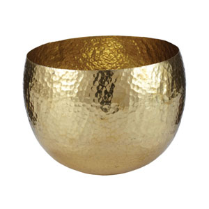Gold Hammered Dish