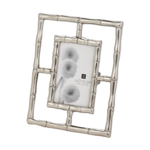 Silver Bamboo Silver 4 x 6-Inch Frame