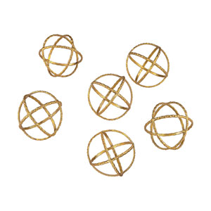 Decorative Gold Orbs - Set of Six
