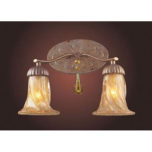 Provenzia Argento Bronze Two-Light Wall Sconce