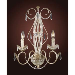 Madison Silver Leaf Two-Light Wall Sconce