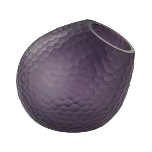 Glass Horn Purple Vase