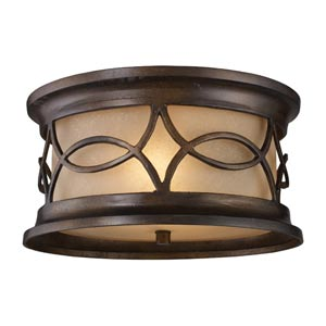Burlington Gate Two-Light Outdoor Flush Mount