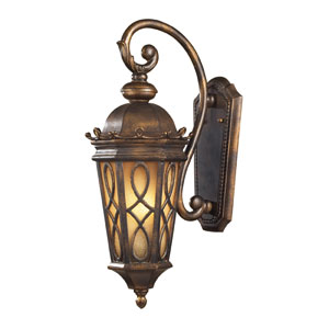Burlington Junction Medium Amber Outdoor Lantern
