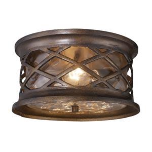 Barrington Gate Hazelnut Bronze Two-Light Outdoor Flush Mount