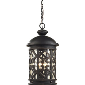 Tuscany Coast Weathered Charcoal Outdoor Hanging Pendant