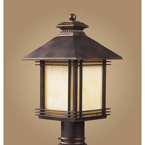 Blackwell Hazelnut Bronze Outdoor Post Mount