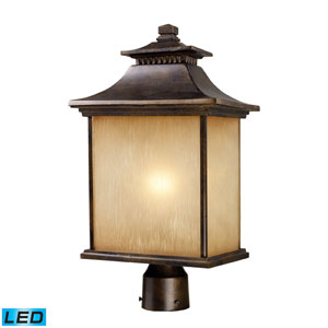 San Gabriel One Light LED Outdoor Post Light In Hazelnut Bronze