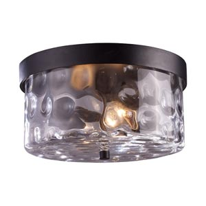 Grand Aisle Hazelnut Bronze Two-Light Outdoor Flush Mount