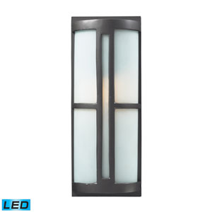 Trevot One Light LED Outdoor Sconce In Graphite