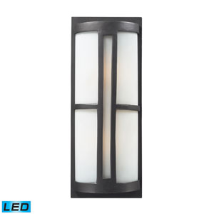 Trevot Two Light LED Outdoor Sconce In Graphite