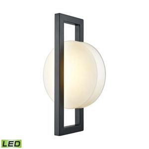 Zulle Matte Black One-Light Outdoor Wall Lantern