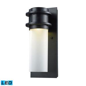 Freeport Matte Black LED One-Light Outdoor Wall Light