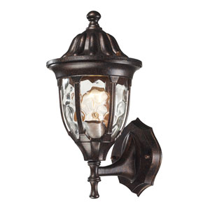 Glendale Regal Bronze 13-Inch One Light Outdoor Wall Sconce