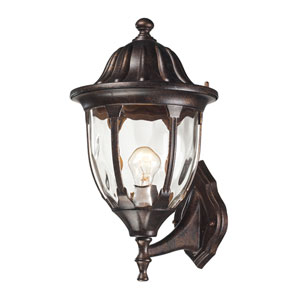 Glendale Regal Bronze 16-Inch One Light Outdoor Wall Sconce