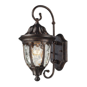 Glendale Regal Bronze 14-Inch One Light Outdoor Wall Sconce