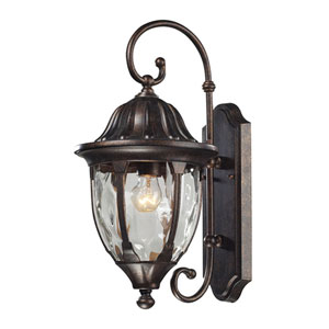 Glendale Regal Bronze One Light Outdoor Wall Sconce