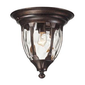 Glendale Regal Bronze One Light Outdoor Flush Mount Fixture