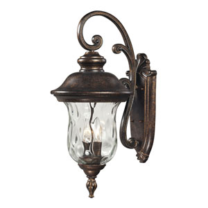 Lafayette Regal Bronze Three-Light Outdoor Wall Sconce