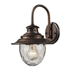 Searsport One Light Outdoor Wall Sconce In Regal Bronze