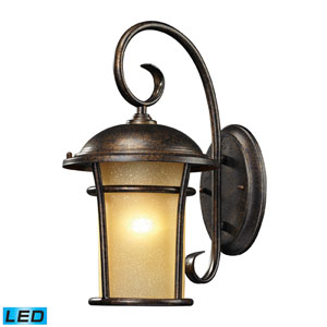 Bolla Vista One Light LED Outdoor Wall Sconce In Regal Bronze
