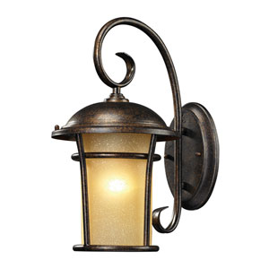 Bolla Vista One Light Outdoor Wall Sconce In Regal Bronze