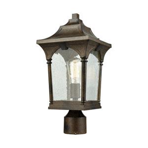 Loringdale Hazelnut Bronze 8-Inch One-Light Outdoor Post
