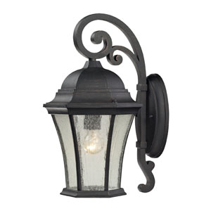 Wellington Park One Light Outdoor Wall Sconce In Weathered Charcoal