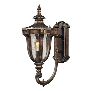 Sturgess Castle One Light Outdoor Wall Sconce In Regal Bronze