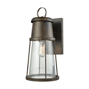Crowley Hazelnut Bronze 8-Inch One-Light Outdoor Wall Lantern