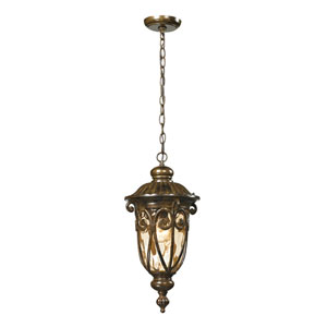 Logansport Hazelnut Bronze One Light Outdoor Pendant
