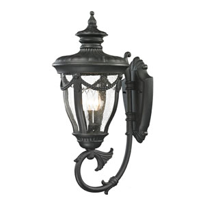 Anise Matte Black Three Light Outdoor Wall Sconce