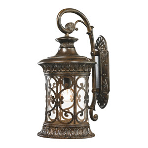 Orlean Hazelnut Bronze One Light Outdoor Wall Sconce with Clear Glass Sits