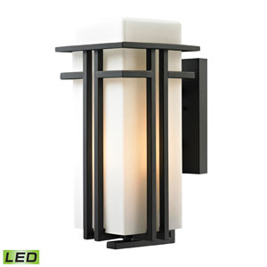 Croftwell Matte Black LED One Light Outdoor Wall Sconce