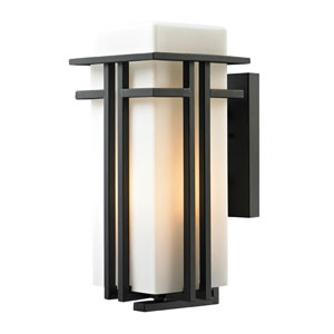 Croftwell Matte Black One Light Outdoor Wall Sconce