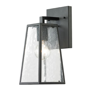 Meditterano Matte Black 14-Inch One Light Outdoor Wall Sconce