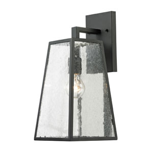 Meditterano Matte Black One Light Outdoor Wall Sconce