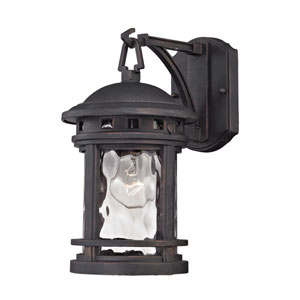 Costa Mesa Weathered Charcoal 7-Inch One-Light Outdoor Wall Sconce