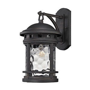 Costa Mesa Weathered Charcoal 9-Inch One-Light Outdoor Wall Sconce