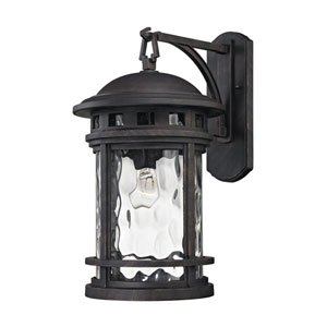 Costa Mesa Weathered Charcoal 11-Inch One-Light Outdoor Wall Sconce