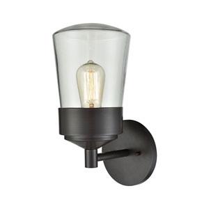 Mullen Gate Oil Rubbed Bronze 6-Inch One-Light Outdoor Wall Lantern