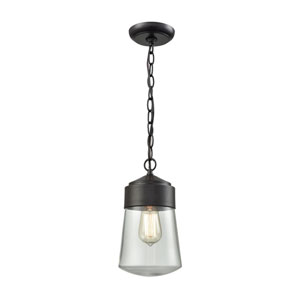 Mullen Gate Oil Rubbed Bronze 6-Inch One-Light Outdoor Hanging Light