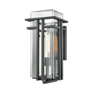 Croftwell Textured Matte Black 8-Inch One-Light Outdoor Wall Lantern
